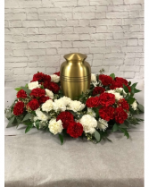 Thoughtful Memories Urn Piece Funeral Arrangement