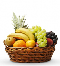Thoughtful Tidings Basket Fruit Basket
