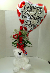 Thoughtful Valentine Vase Arrangement
