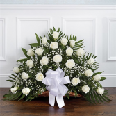Thoughts & Prayers White Funeral Flower Delivery