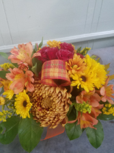 Thoughts of Fall Vase Arrangement