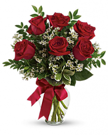 Thoughts of You with Red Roses Bouquet