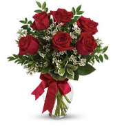 Thoughts of You  Red Rose Arrangement