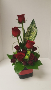 FS Thoughts of You with Red Roses Arrangement