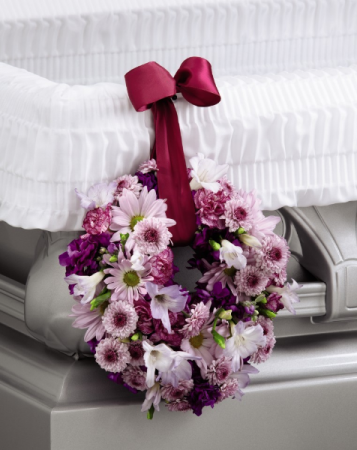 Thoughts & Prayers Wreath Adornment Casket  Adornment