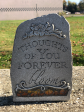 Thouths Of You Forever  Sympathy Keepsake