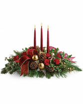 Three candle center piece Christmas center piece