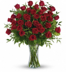 Three Dozen Long Stem Roses Rose Arrangement