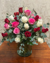 Three Dozen Mixed Rose Bouquet