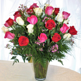 MAGICAL THREE DOZEN ROSES * If no choice of color provided, it will be as shown)