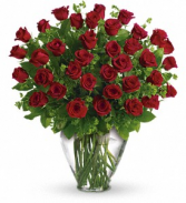 Three Dozen Red Roses Rose Arrangement