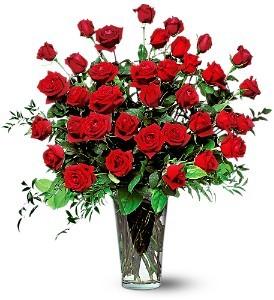 Three Dozen Red Roses Rose Arrangement