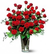 Three Dozen Red Roses Vase Arrangement