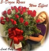 THREE DOZEN ROSES!! WOW FACTOR!