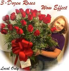 THREE DOZEN ROSES!! WOW FACTOR!