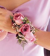 Three Rose  Wristlet Corsage