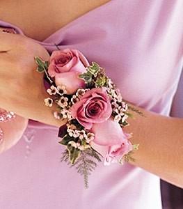 Three Rose  Wristlet Corsage