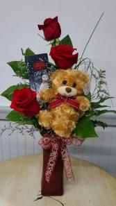 Three Ways to the Heart! Vase Arrangement