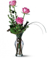 Three's A Charm  Rose Bud Vase