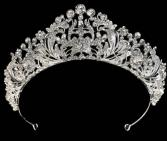 Throne Tiara #T4403FC Silver Tiara