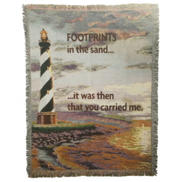 Throw - Footprints - Assorted Gift