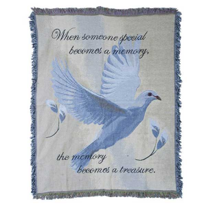 Throw - Memory Becomes a Treasure (Dove) Gift in Rossville, GA | Ensign The Florist