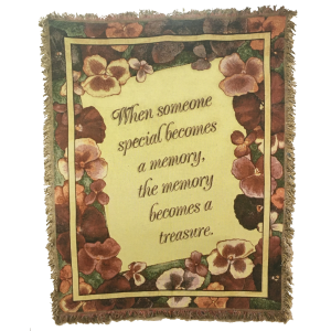 Throw - Memory Becomes a Treasure (Pansies) Gift in Rossville, GA | Ensign The Florist