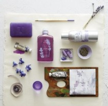 Thymes Lavender luxury bath set