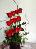 Tiers of Roses Vase Arrangement in Campbell, CA | Rosies & Posies