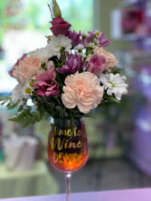 Time for mom to wine down Flower arrangement