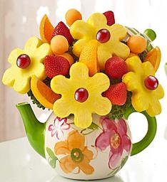 time for tea fruit bouquet edible fruit arrangment in arlington