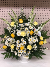 FOREVER IN OUR HEARTS FUNERAL BASKET