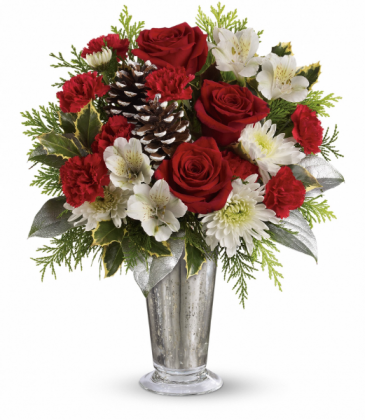 Timeless Cheer Bouquet All-Around Floral Arrangement