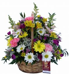 Timeless  Elegance Basket arrangement