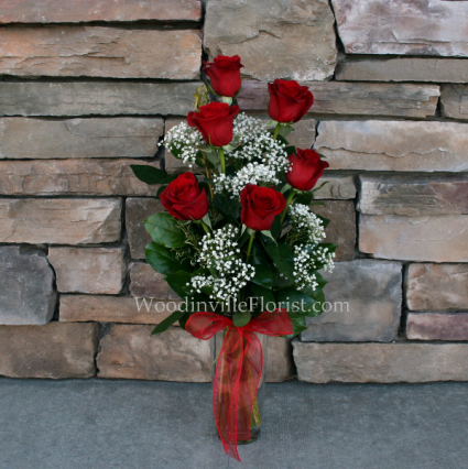 Timeless Half Dozen Roses Classic Rose Arrangement