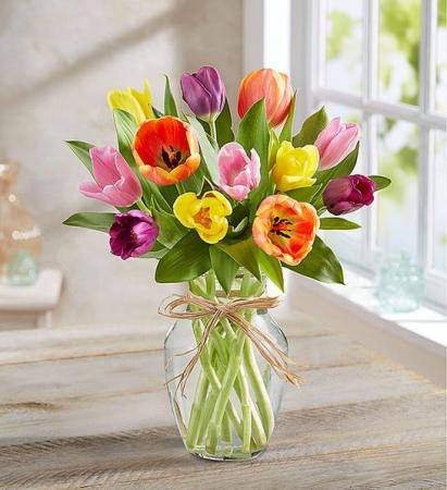 Timeless Tulips  15 Assorted Tulip Arrangement