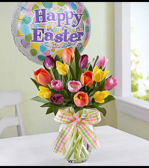 Timeless Tulips® for Easter Arrangement in Croton On Hudson, NY | Cooke's Little Shoppe Of Flowers