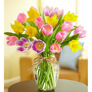 TIMELESS TULIPS VASE in Peoria Heights, IL | The Flower Box