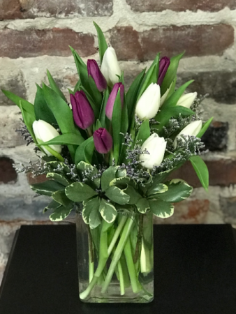 Timeless Tulips Vased Arrangement