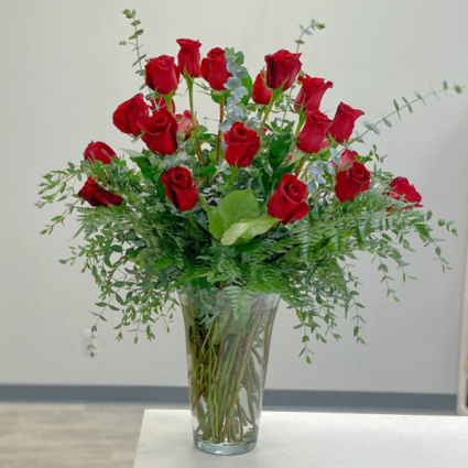 Timeless Two Dozen Vase Arrangement