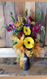 Tin and Blooms Bouquet fresh