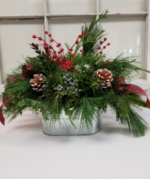 Tin centerpiece Holiday