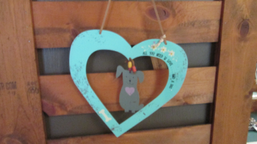 Tin All You Need Is Love And A Dog hanger