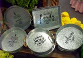 Tin Trays with Message