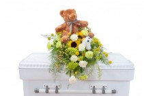Tiny Angels Casket Spray Arrangement