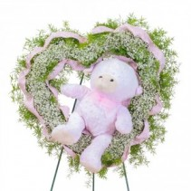 Tiny Angels Wreath in Pink Fresh Flower Spray