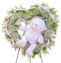Tiny Angels Wreath in Pink Wreath
