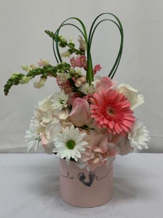 Tiny Miracle New Baby Girl Bouquet Fresh Arrangement