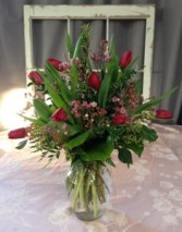 Tip Toe Through the Tulips Vase Arrangement