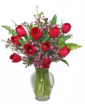 Tempting Tulips Vase Arrangement